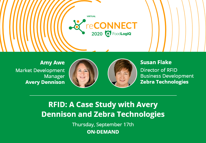 Advancing RFID in the Food Chain with Avery Dennison and Zebra Technologies at Virtual reCONNECT 2020