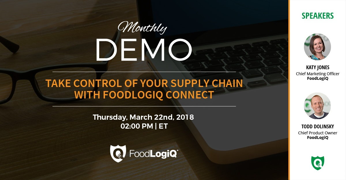 Take Control of Your Supply Chain with FoodLogiQ Connect