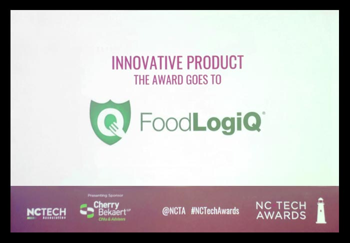 FoodLogiQ Selected as Winner for Product Innovation Category in 2018 NC Tech Awards