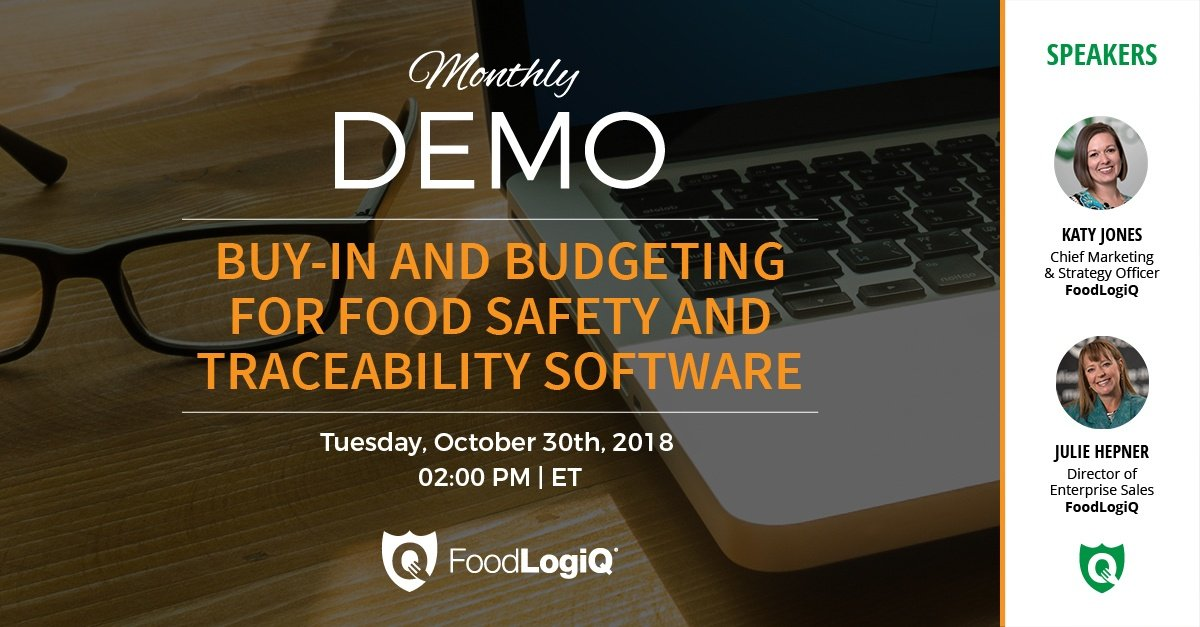 Buy-In and Budgeting for Food Safety and Traceability Software