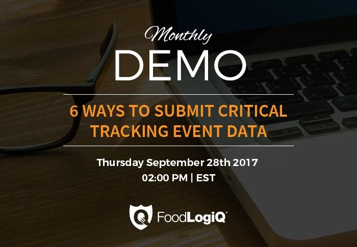 FoodLogiQ Track + Trace Product Demo