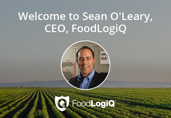 FoodLogiQ Names Sean O'Leary as New CEO