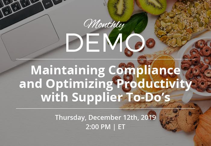 Maintaining Compliance and Optimizing Productivity with Supplier To-Do's